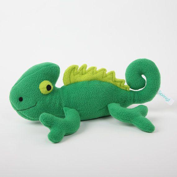 Chameleon Handmade Stuffed Toy By SpringOriginals On Etsy