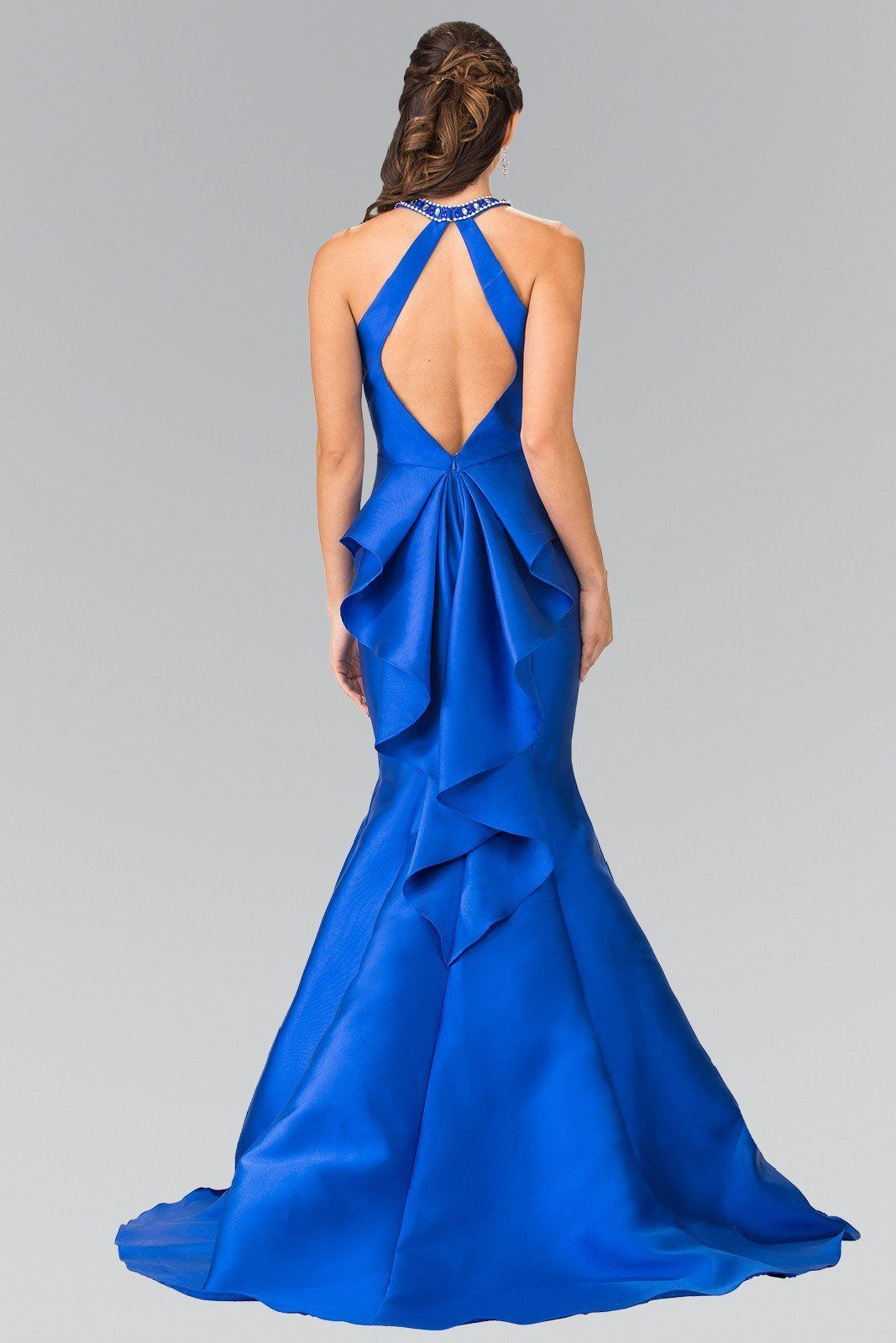 Mermaid satin prom dress gl blue styles pinterest formal