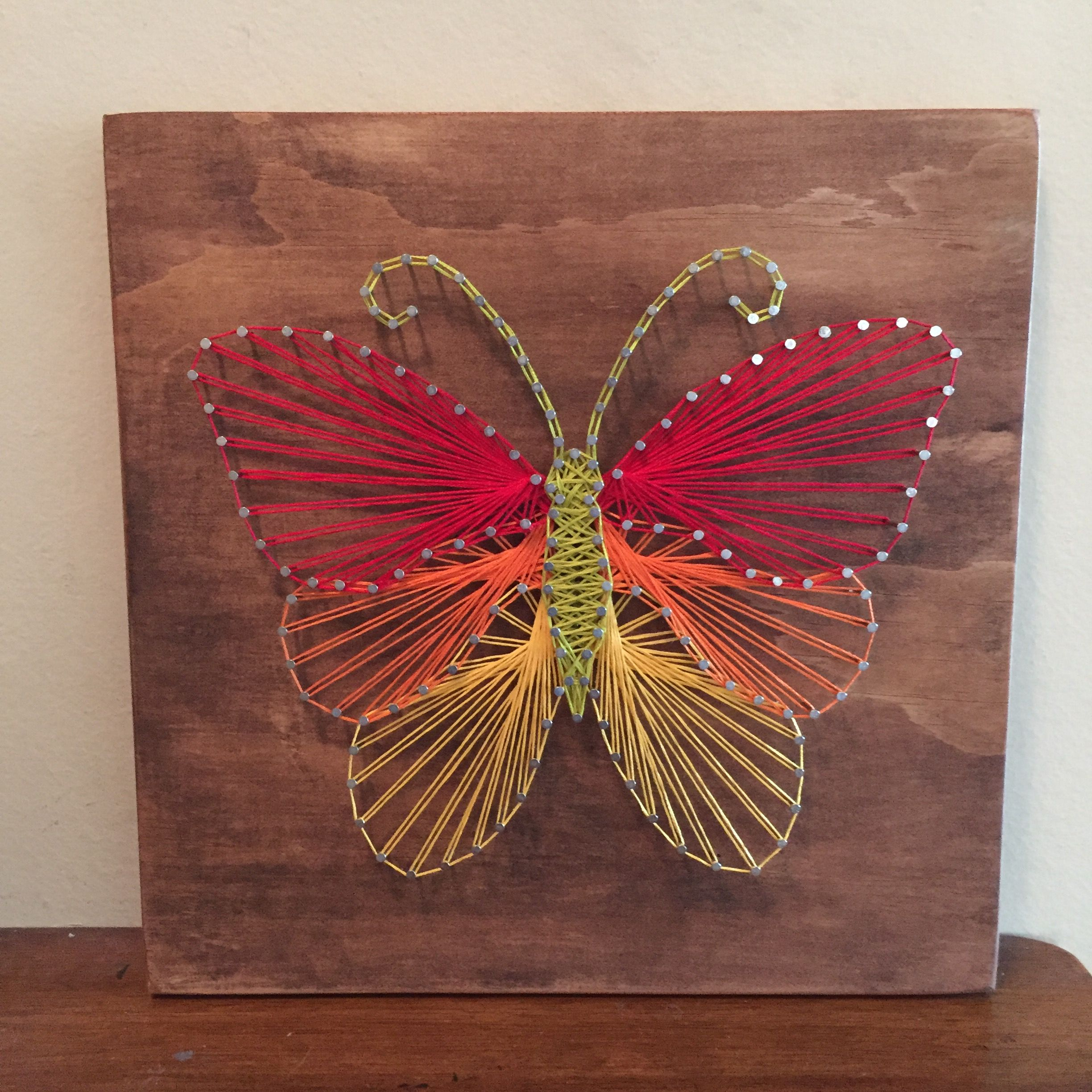 Butterfly String Art | String Rope Ideas | Pinterest | String art ...