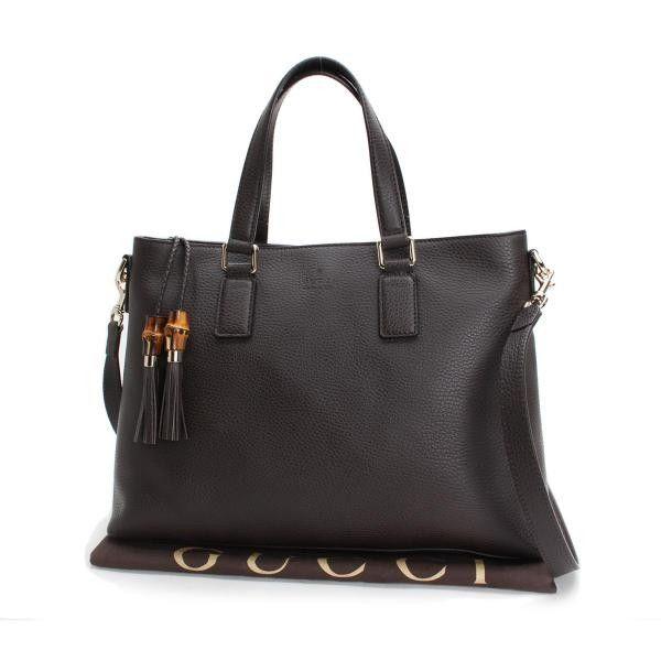 GUCCI Fringe 2WAY Shoulder bags Black Leather 365346