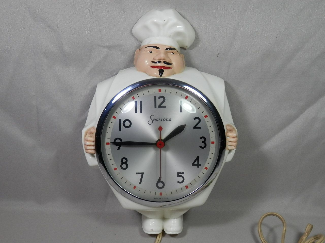 Vintage Sessions Chef Clock Model 4W Kitchen Clock Motif
