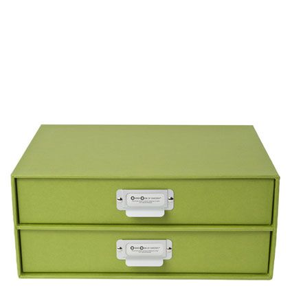 Birger Classic 2 Drawers Chest by Bigso Box of Sweden - Green