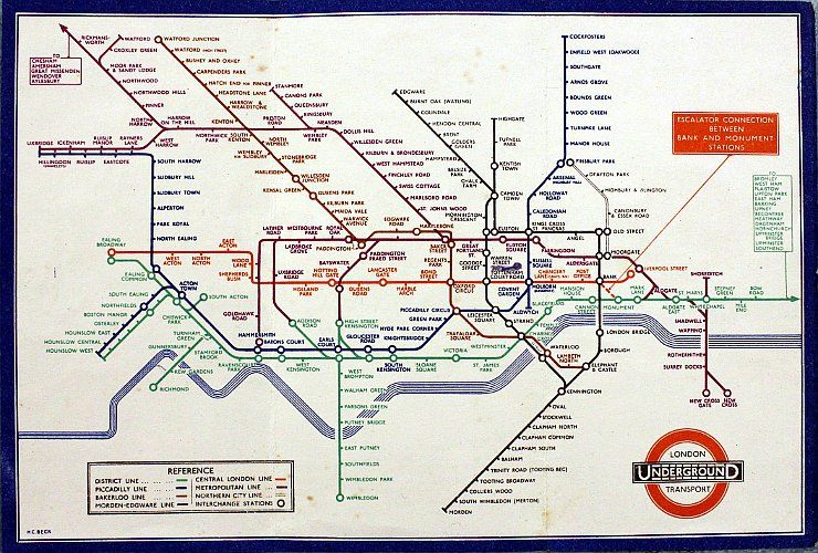 Sunday Maptinee How Electrical Circuits Inspired The London Underground Map Geolounge Underground Map London Underground Map London Underground Tube Map