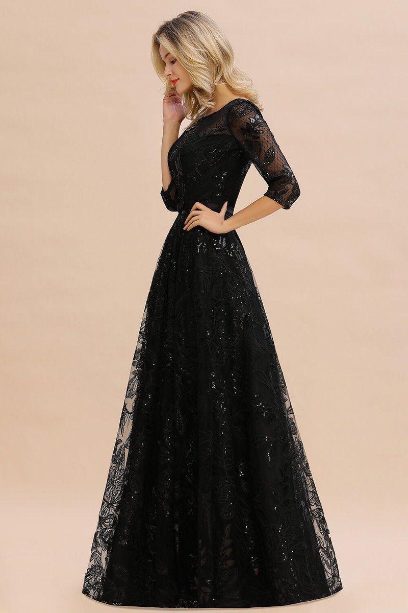 Elegant Black Lace Aline Mother Of The Bride Dresses