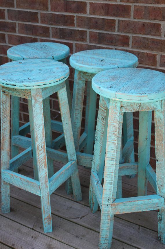 Paradise Punch French Chair Reserved Painted Stools Bar