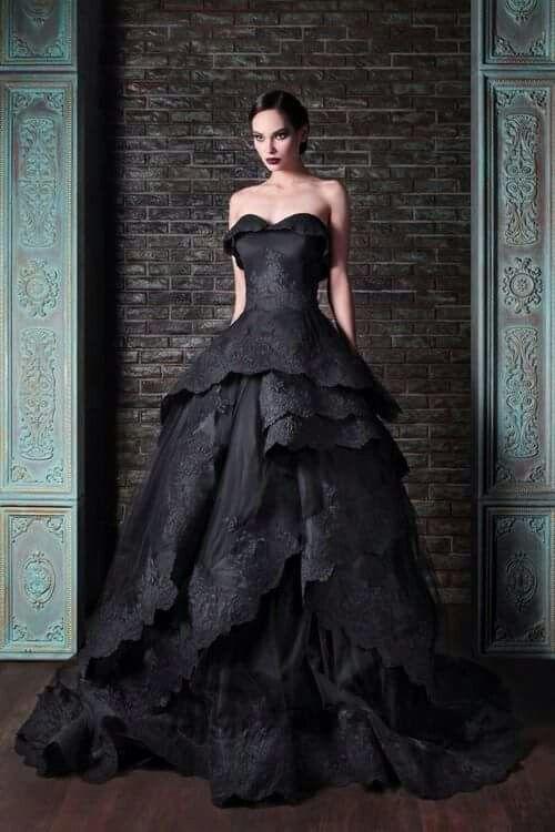 Schwarzes brautkleid halloween