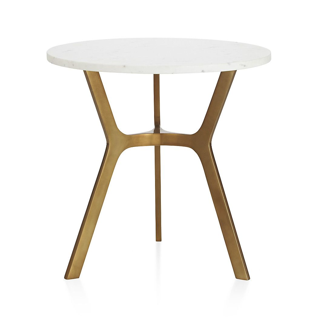 Elke Round Marble End Table With Brass Base Reviews Crate And Barrel Marble End Tables Marble Side Table Round Marble Side Tables [ 1050 x 1050 Pixel ]