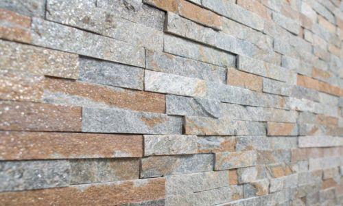 wandsteine quarzit bronze 60 x 15 cm verblender - Wandsteine
