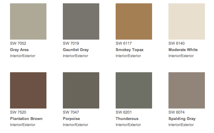 Sherwin Williams Samples Colours On Order For House