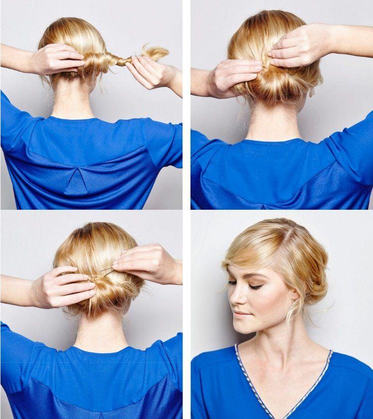 haare am nacken binden und zusammenrollen | hair style | pinterest