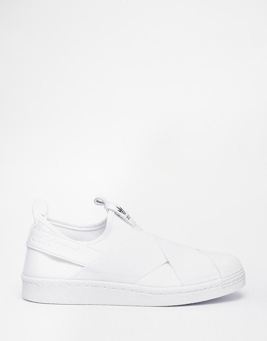 cheap for discount 6a5e9 0ffdb Adidas   adidas Originals Superstar Slip On White Sneakers at ASOS