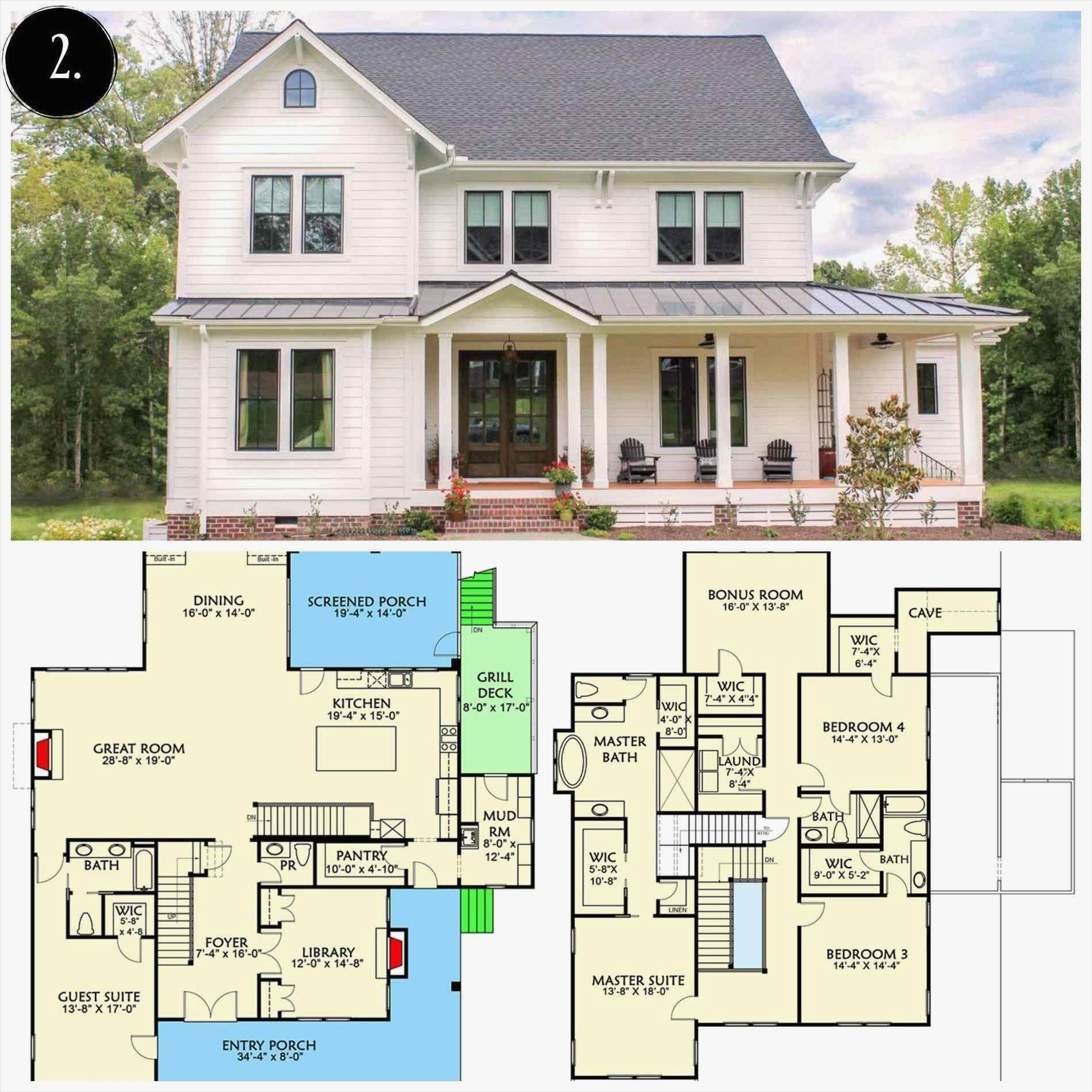 Modern Farmhouse Plans 2 Story Elegant Bedroom Modern Two Story Farmhouse Plans Design Far Farmhouse Floor Plans Modern Farmhouse Plans Modern Farmhouse Floors