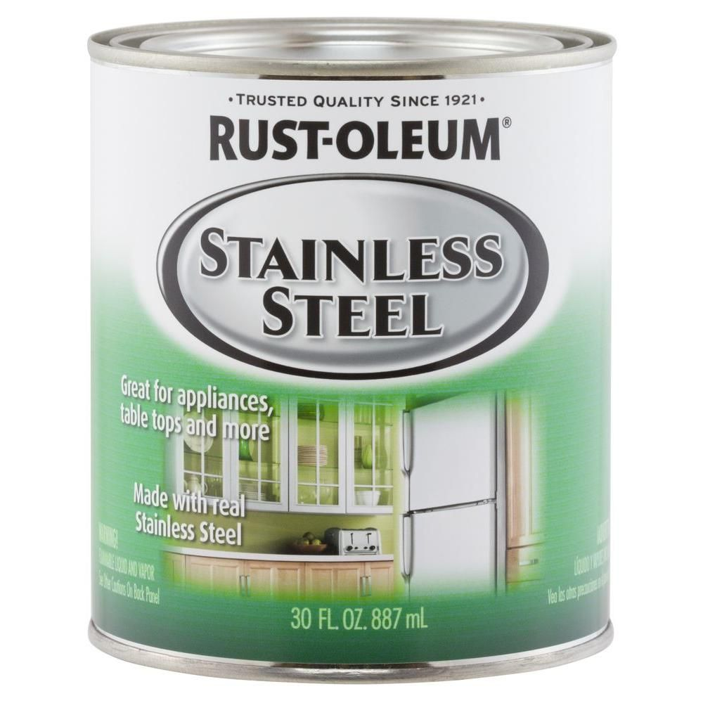 Rust Oleum Specialty 30 Oz Metallic Stainless Steel Interior Exterior Paint 2 Pack 247963 The Home Depot Stainless Steel Paint Rustoleum Stainless Steel
