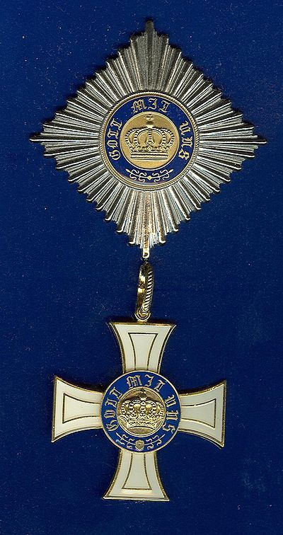 Order Of The Crown Prussia Grand Cross Prussia Admiral Of The Fleet