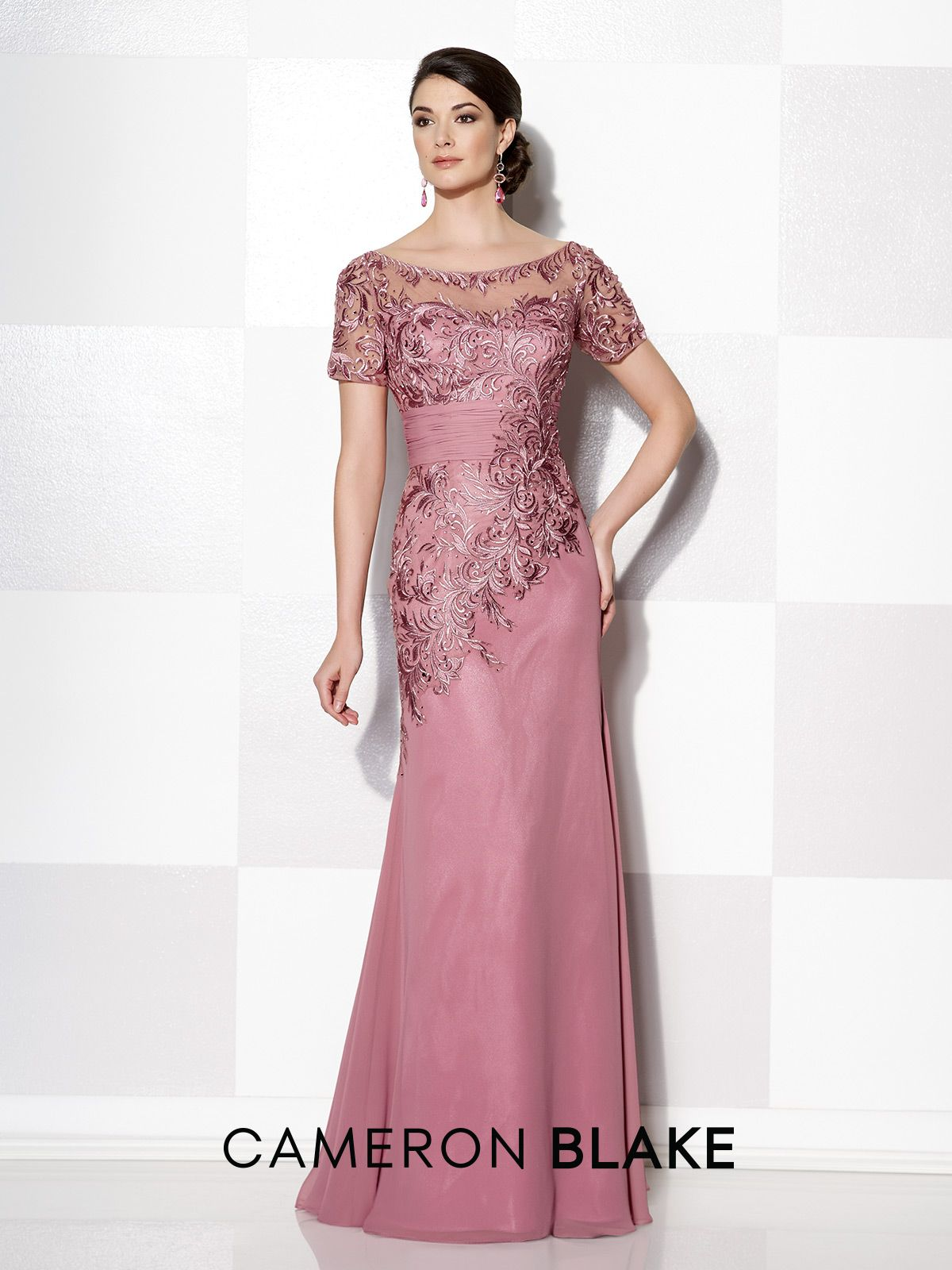 Chiffon Modified Mermaid Dress - Cameron Blake 114662 | Camisas ...