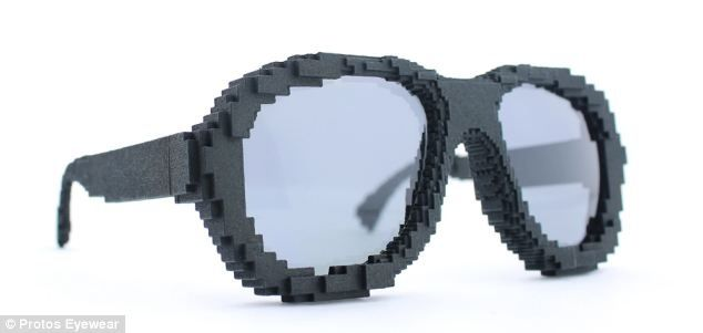 Protos, a company based in San Francisco, produces 3D-printed frames that cost around £115. These pixelated frames are designed to look like Lego bricks