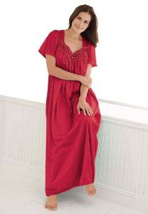 724c45c72a5d Only Necessities Plus Size Full-sweep Nightgown ♥♥ Your-Online-Fashion.com