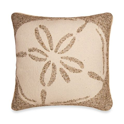 Tropical Sand Dollar Square Throw Pillow From At Bed Bath Beyond Fashioned After And Sea This Unique Features A Front