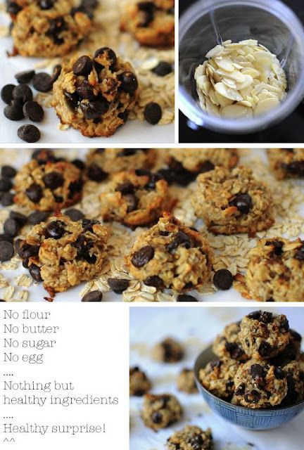 Healthy cookies  bananas, rolled oats,