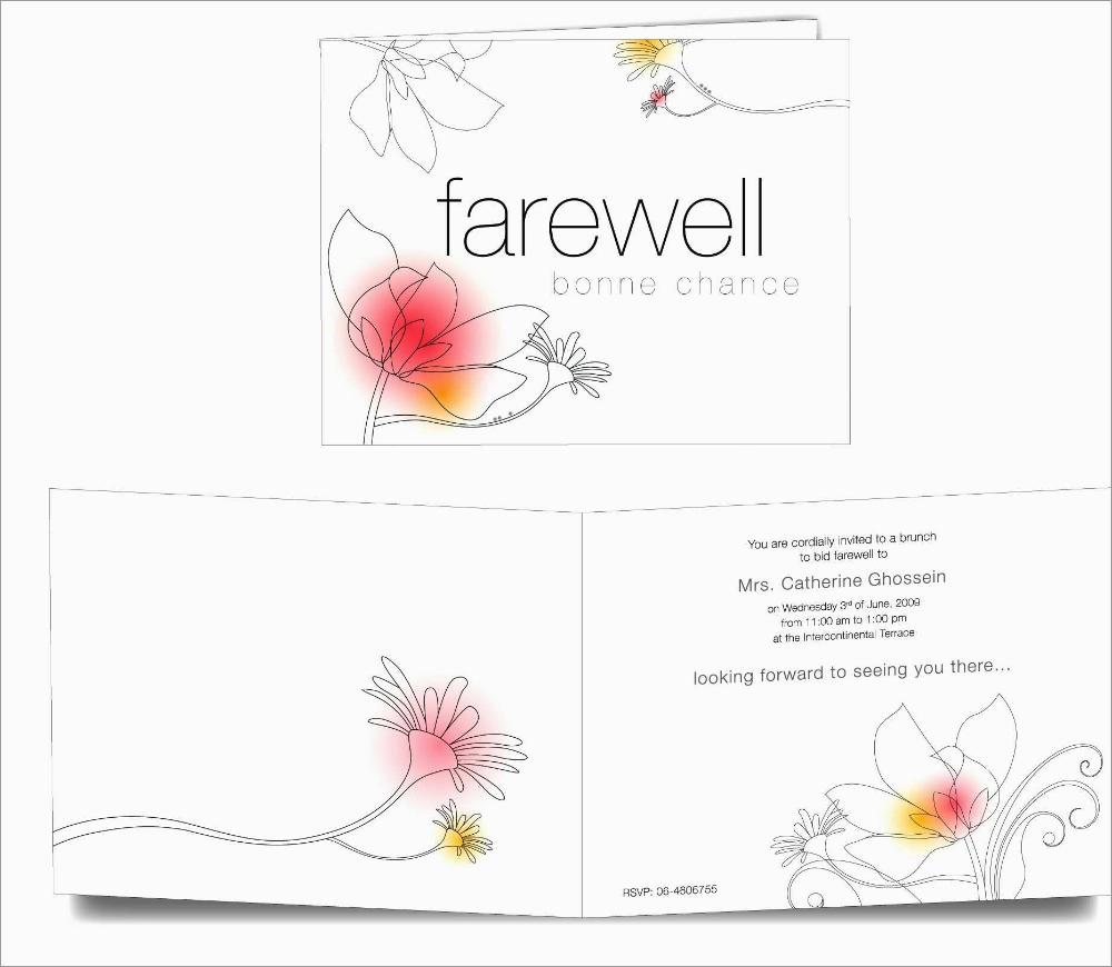 unique free farewell invitation templates best of template