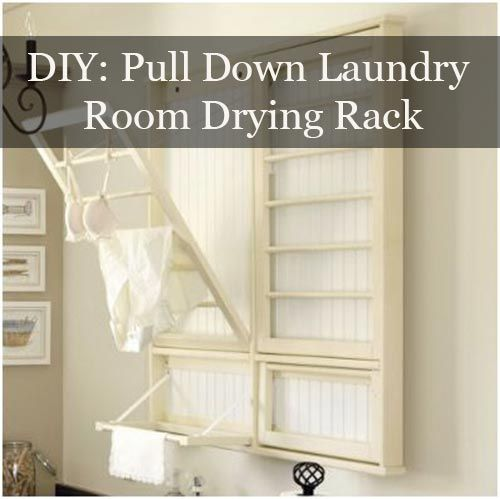 Diy Pull Down Laundry Room Drying Rack Laundry Room Drying Rack