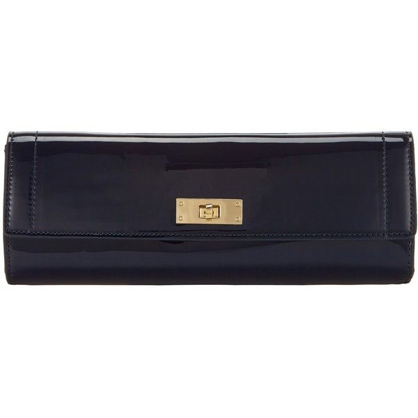 Collection By John Lewis Patent Clutch Bag Navy 135 Sar Liked On