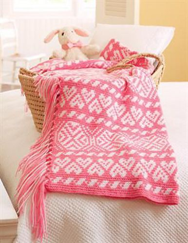 Baby Hearts Fair Isle Afghan by Karen Ratto-Whooley. Leisure Arts ...