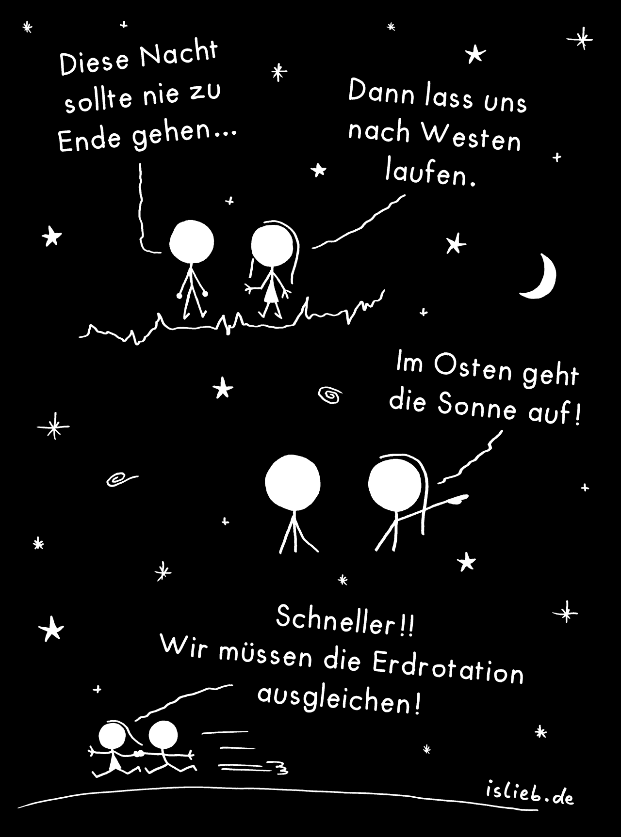 Sommernacht | >> Mehr Comics? - #comic #islieb #nacht #romantik #romantisch #sommer #sterne