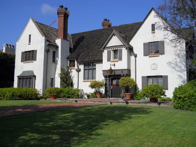 Best Tudor Home Painted White With Gray Accents Wood Shingled 640 x 480