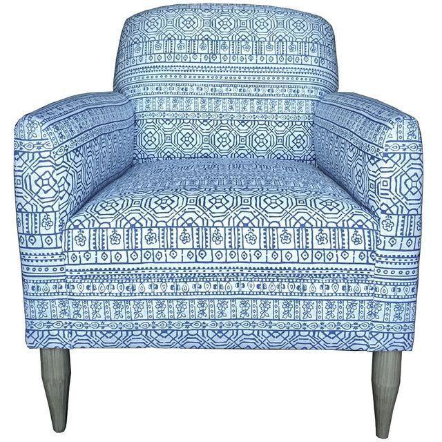Image of Kemp Club Chair in Sabrina Cerulean