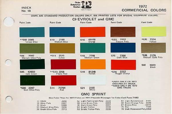 Rarest Paint Color Page 4 The 1947 Present Chevrolet Gmc
