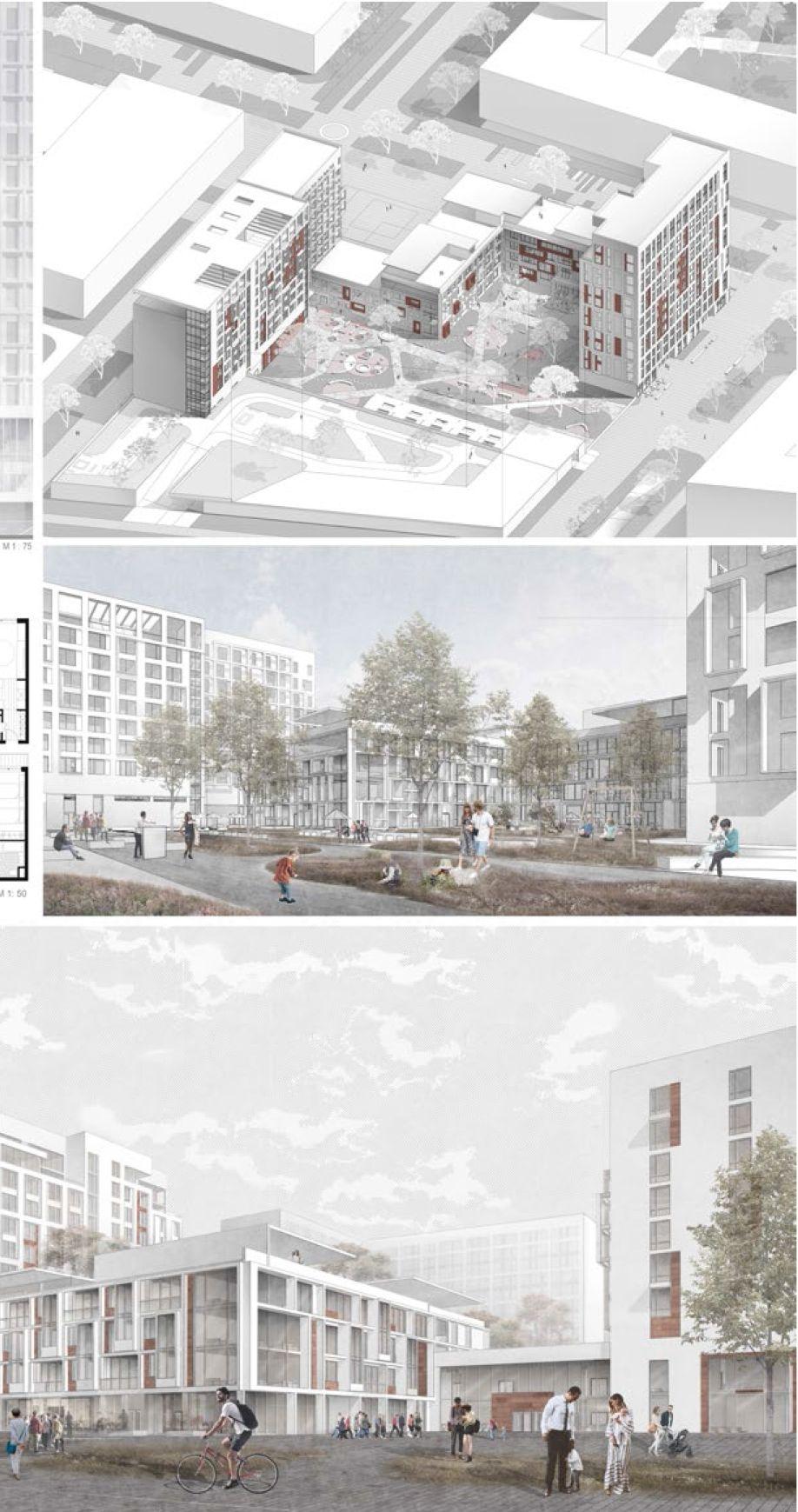 Проект многофункционального комплекса Татьяны Черкасовой. МАРХИ, 2017 #architektonischepräsentation