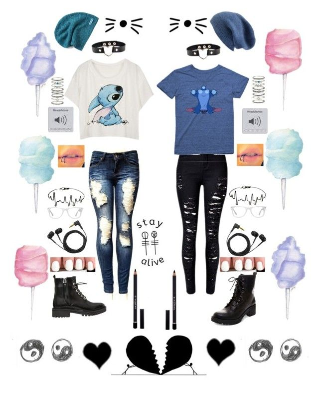 """My best friend and I"" by breannailoveyou on Polyvore featuring Kendall + Kylie, Givenchy, Madden Girl, Converse, Halogen, Sennheiser, Accessorize and Muse"
