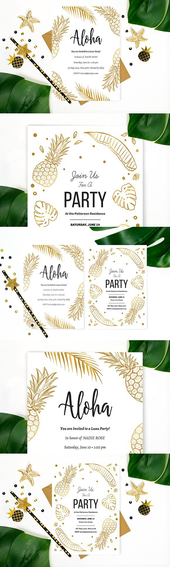 aloha party invitation invitation templates invitation templates