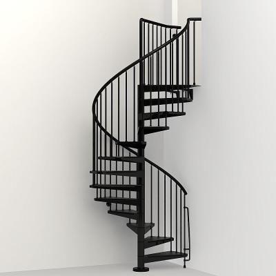Best Arke Civik 63 In Black Spiral Staircase Kit In 2020 400 x 300