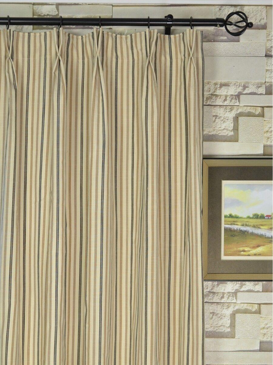 Hudson Yarn Dyed Striped Blackout Double Pinch Pleat Curtains ... for Pinch Pleat Curtains On A Track  110zmd