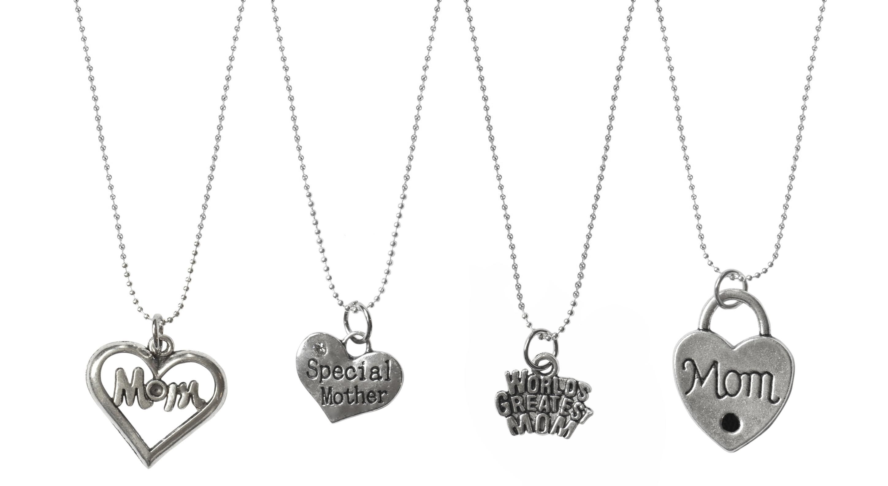 """Mothers Day Charm Necklaces - 4 Designs!  only $7.99 TODAY"""