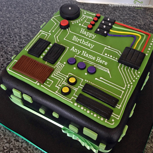 Birthday Cake For Electrical Engineer With Name Torte