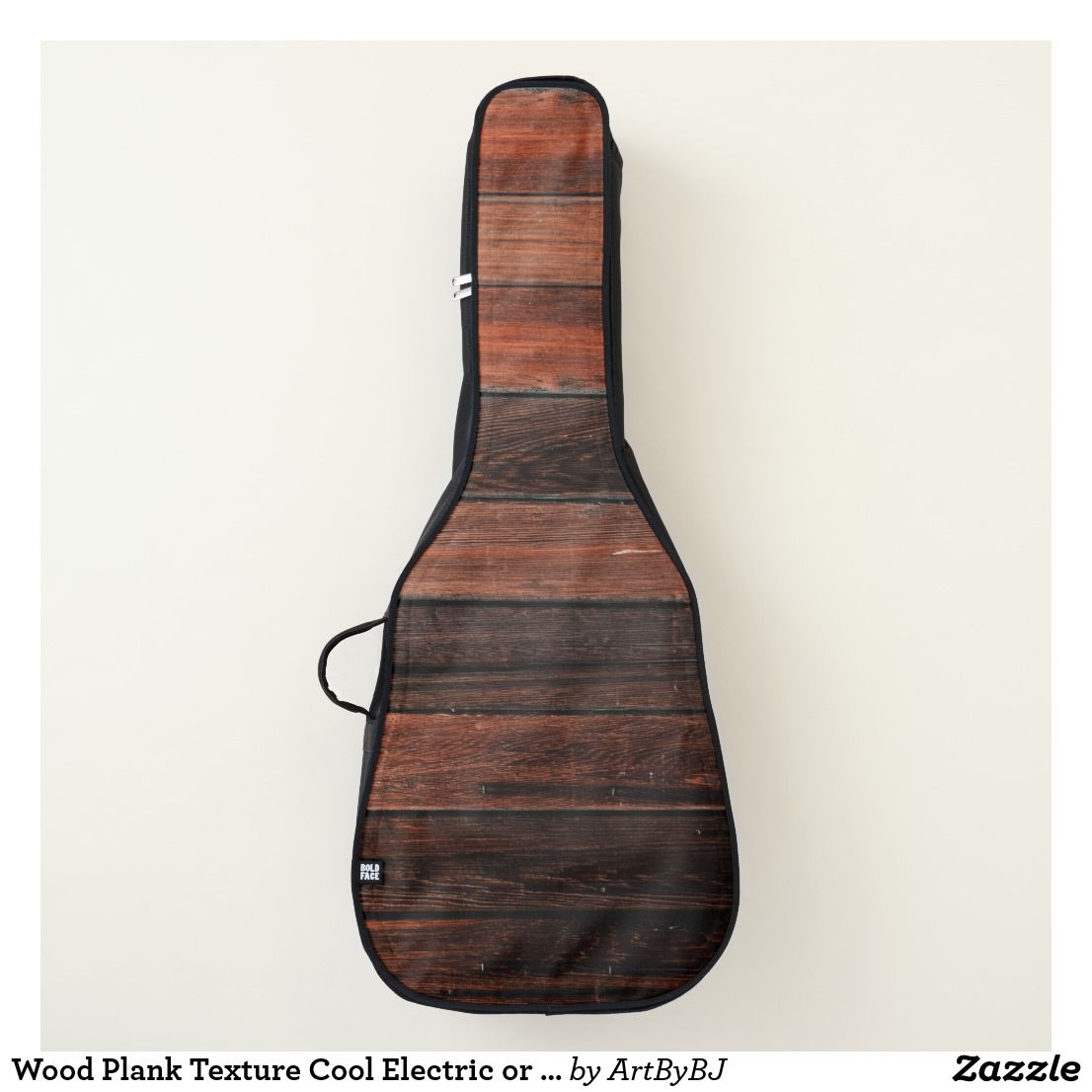 Wood Plank Texture Cool Electric Or Acoustic Guitar Case Great NEW