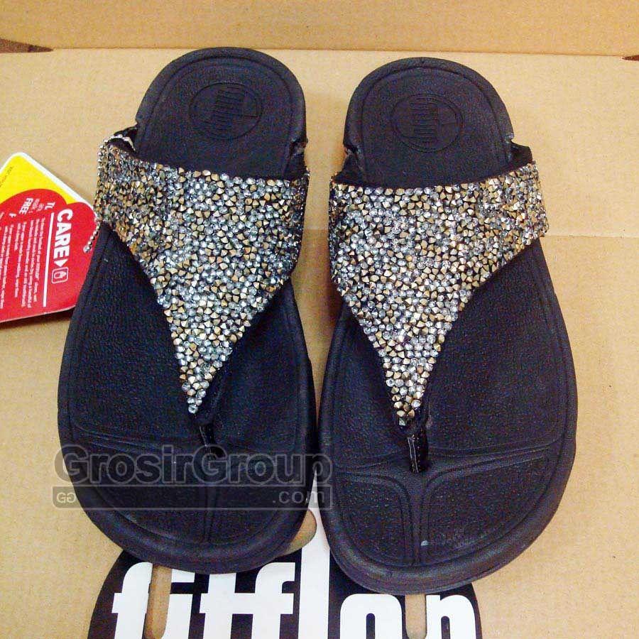 578214d5bdaf Sandal Fitflop Swarovski Crystal Black