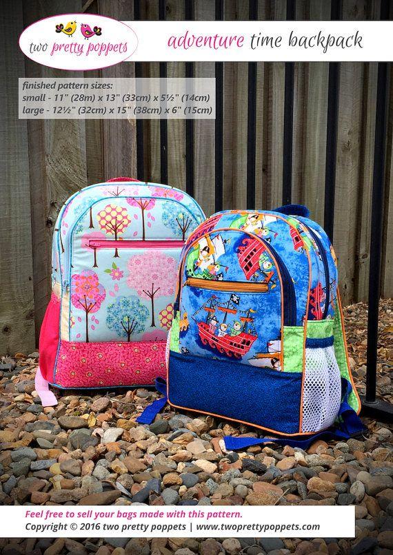 Backpack Pattern Backpack Pdf Adventure Time Backpack Kids