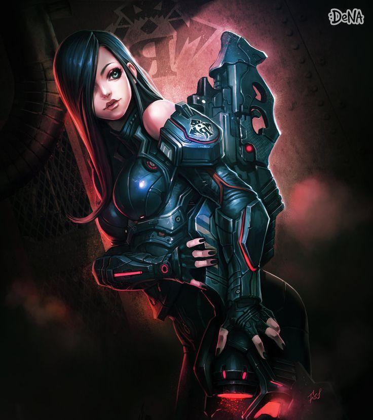 Sci Fi Futuristic Girl Futuristic Future Girl Weapon