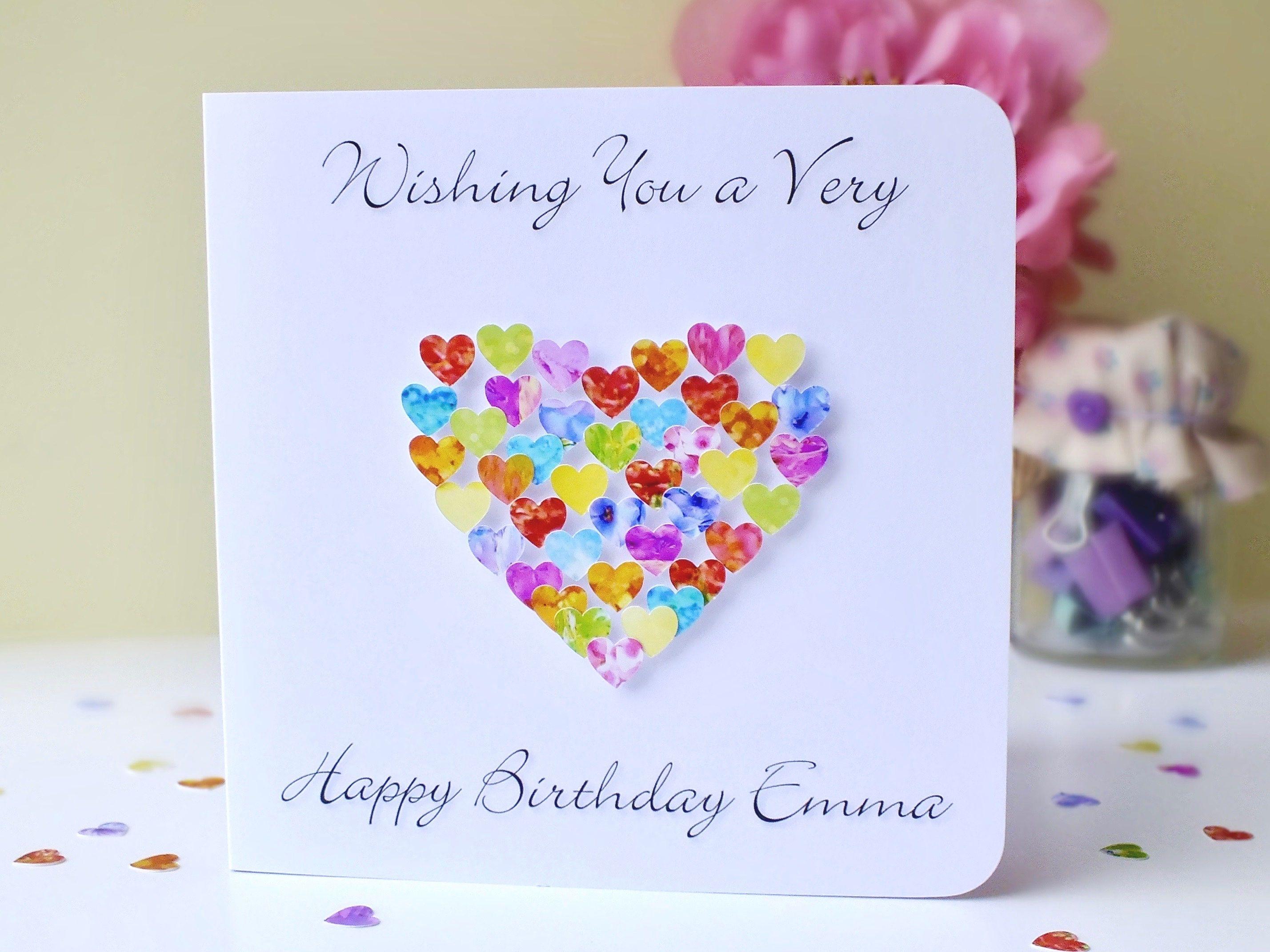 Custom Birthday Card Colourful Birthday Card with Name or