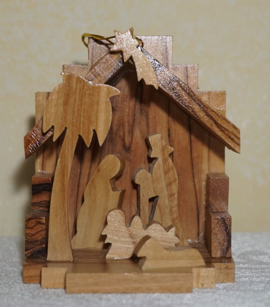 Artelegno Spoon Rest Nwt 100 Olive Wood 3 D Nativity Ornament 3