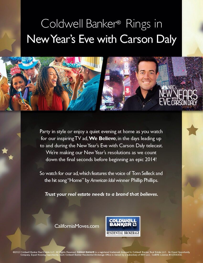 Check out Coldwell Banker this New Years Eve! Success and