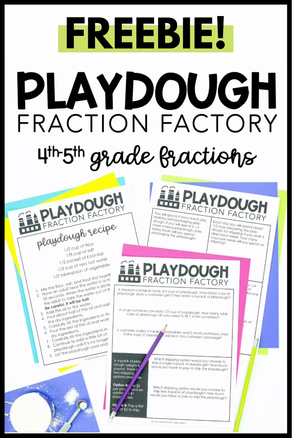 Free Fraction Project For 4th And 5th Grade Video In 2020 4th Grade Math Grade 6 Math Fourth Grade Math [ 1500 x 1000 Pixel ]
