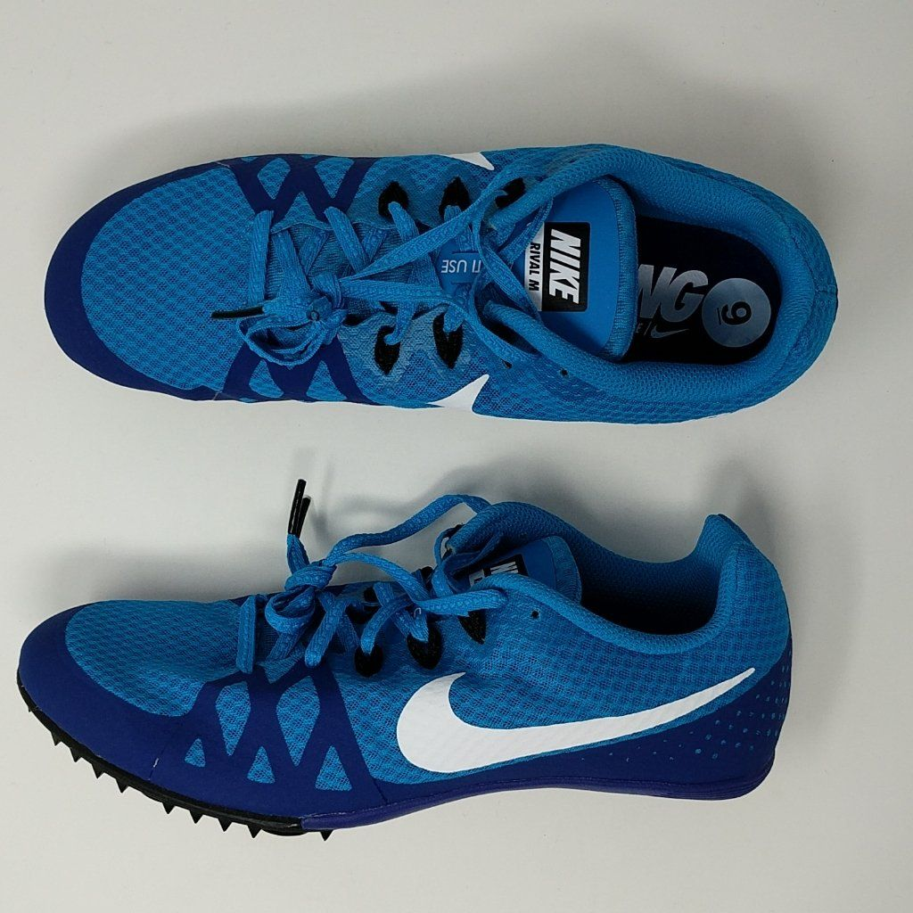 best service c8bfd 64675 Nike Zoom Rival M 8 Track Sprint Spike Shoes Size 9 New 806555-414 –  LoneSole