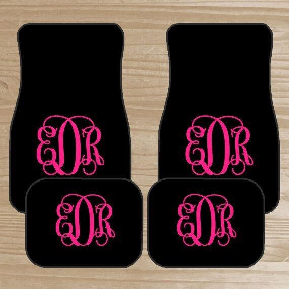 Personalized Monogram Floor Mats Car Accessories For Girls Car