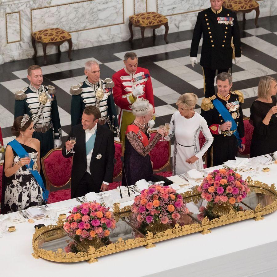 Au dîner de gala offert par la reine Margrethe II du