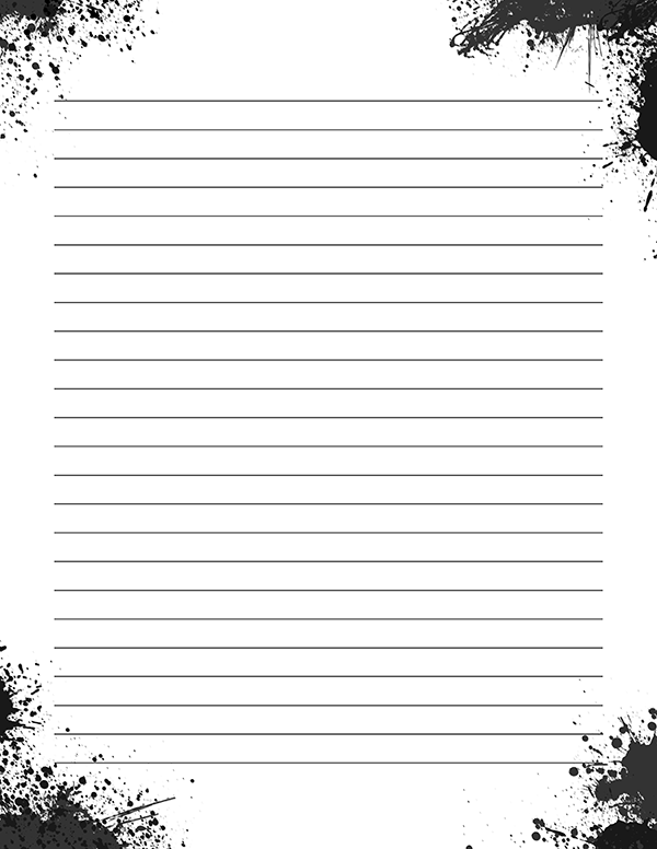 photograph about Free Printable Stationery Black and White titled Pin by way of Muse Printables upon Printable Stationery Laptop computer